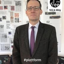 Ein Bild von Prof. Dr. Florian Steger bei der heutigen Plattform