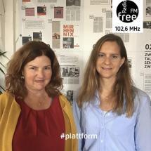 Ein Bild von Christine Lübbers und Lydia Ringshandel bei der heutigen Plattform