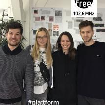 Ein Bild von Alina Hansen, Phillip Muz, Aurelia Uhrig, Christoph Zorn in der heutigen Plattform