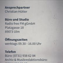 Senderdetails Kontakt