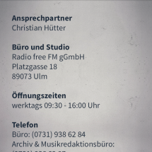 03.6 Senderdetails Kontakt