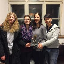 Zoe Fleckenstein, Julia Drozd, Elena Keifert, Svenja Diefenbacher nehmen den G7 Award 2018 entgegen